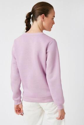 Koton Kadın Lila Sweatshirt 1KAK13681EK 3