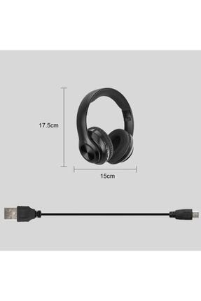Universal P68 Bluetooth Kablosuz Stereo Kulaklık - Siyah 1