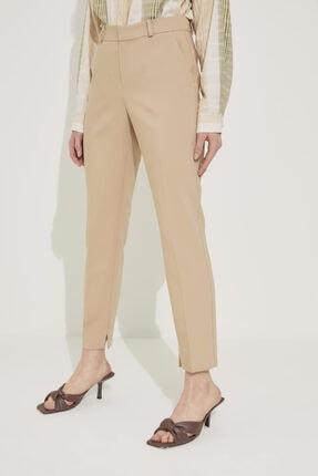 adL Kadın Camel Paçası Yırtmaçlı Cepli Pantolon 4