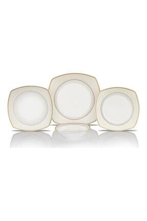 Schafer Elga Porselen Yemek Takımı 24 Parça Altın 0