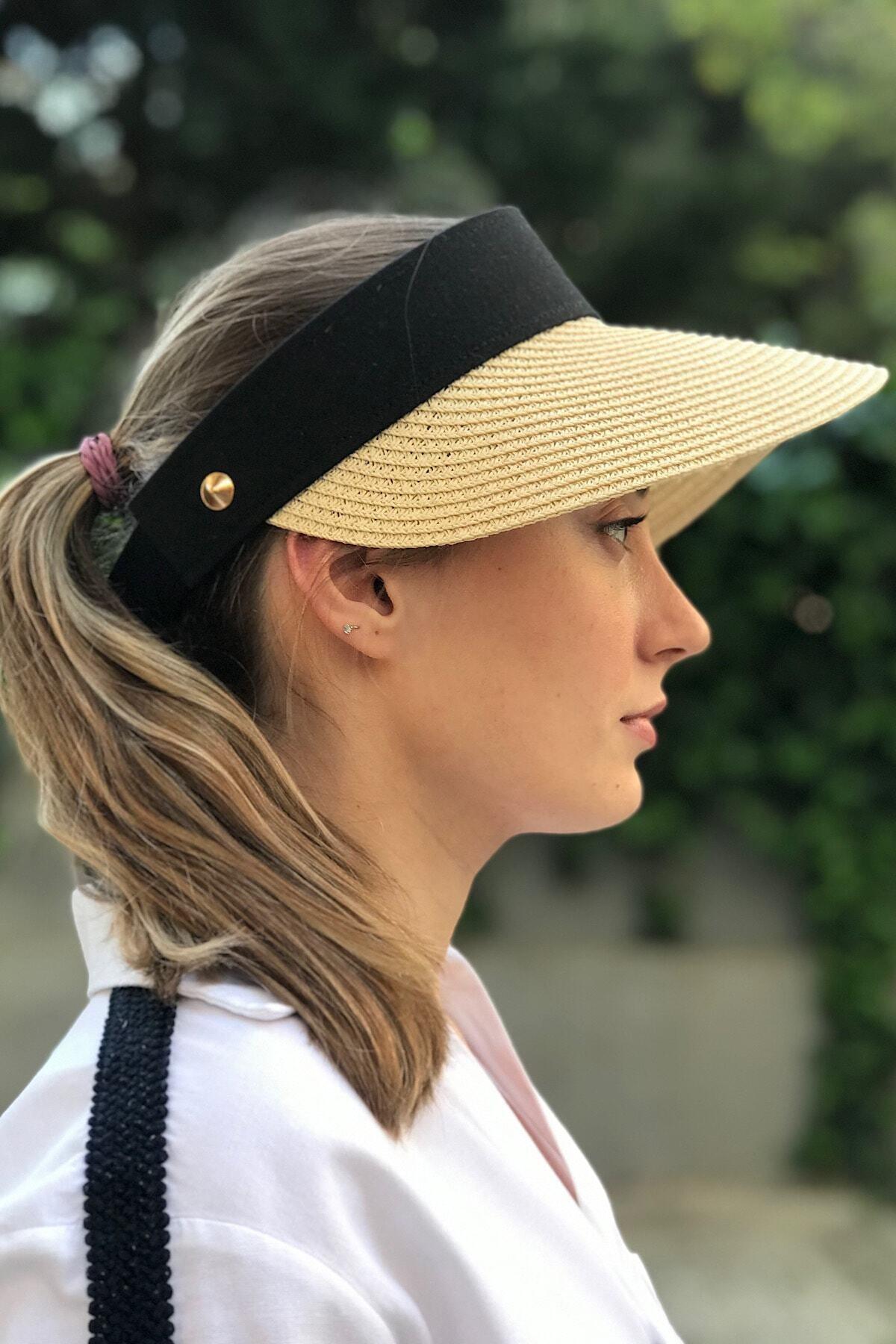 Hasır Zımbalı Vizör Şapka/siperlik