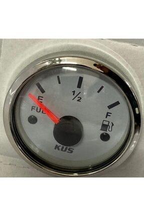 Yakıt Göstergesi Beyaz Kadran Renk Seçenekli Led Işık 12/24 V Çap 52 Mm K-Y10100