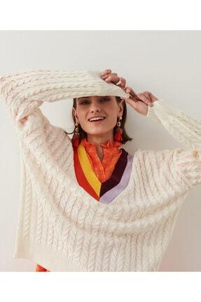 تصویر از ژاکت کش باف پشمی زنانه کد IS1210050062