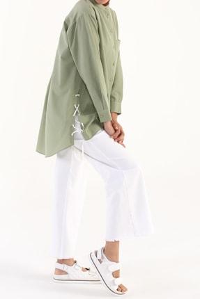 Picture of Açık Yeşil Kuşgözü Detaylı Gömlek Tunik