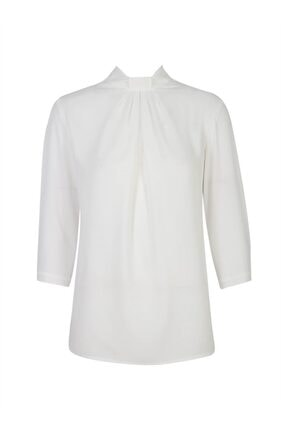 Chima Yakası Pilili Bluz 1