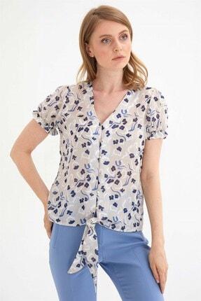 Chima Kadın Bej Önü Bağlamalı Gömlek 2