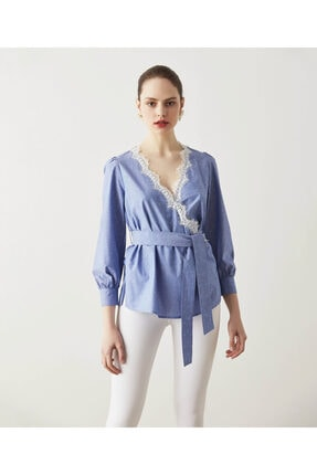 İpekyol Dantel Şeritli Bluz 1