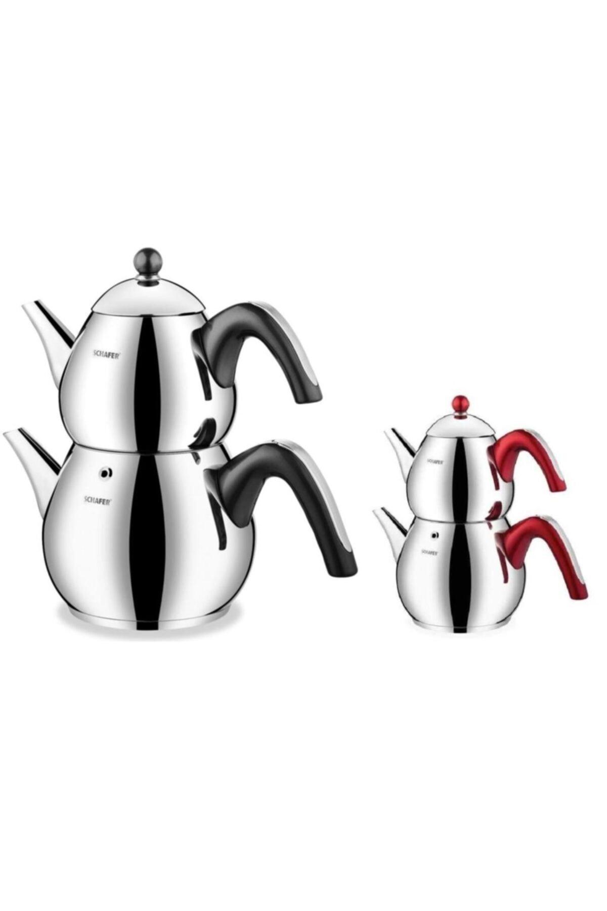 Tea Chef Büyük Boy 2 lt- 3,5 ltÇelik Çaydanlık Takımı