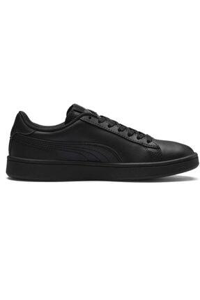 Puma SMASH V2 L JR Siyah Erkek Çocuk Sneaker Ayakkabı 100346457 0