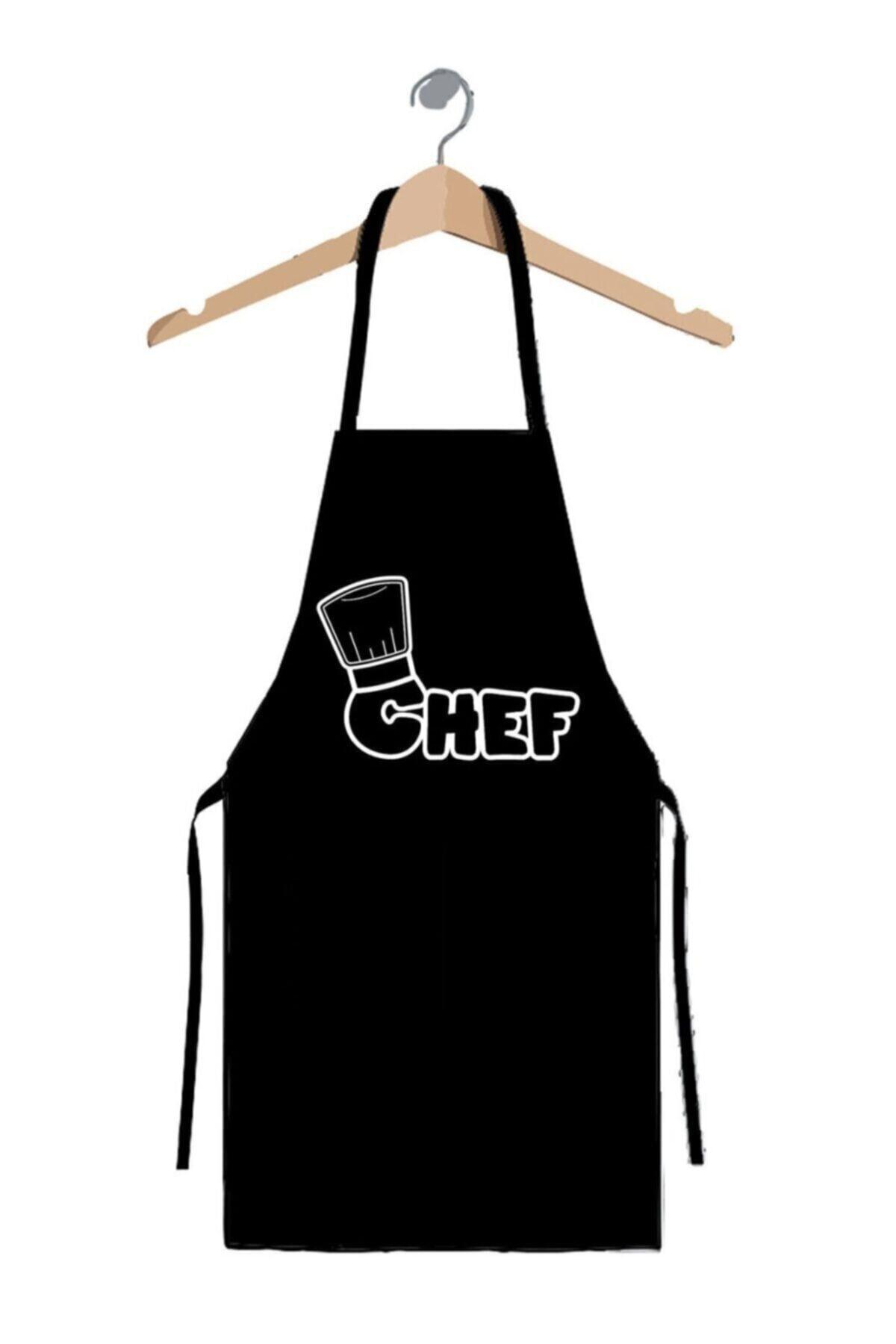 Master Chef Mutfak Önlüğü Siyah-askılı Önlük