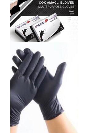 HANDEL Pudrasız 100lü M/siyah Çok Amaçlı Eldiven Lateks Içermez 1