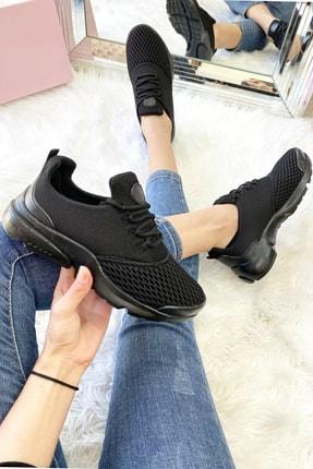 Siyah Bez Spor Ayakkabı ÇokRahatBez