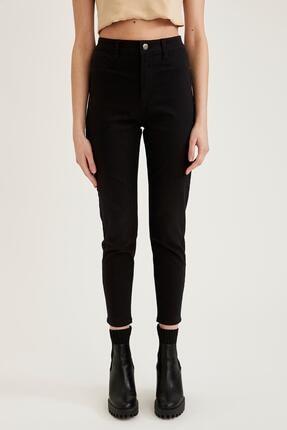 Defacto Kadın Siyah Yüksek Bel Pantolon 1