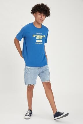 Defacto Erkek Riverdale Lisanslı Oversize Fit Bisiklet Yaka Tişört 1