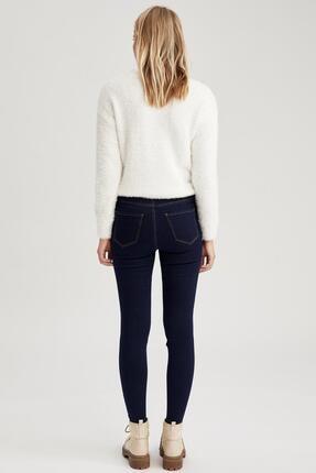 Defacto Kadın Koyu Mavi Super Skinny Fit Jean Pantolon 2