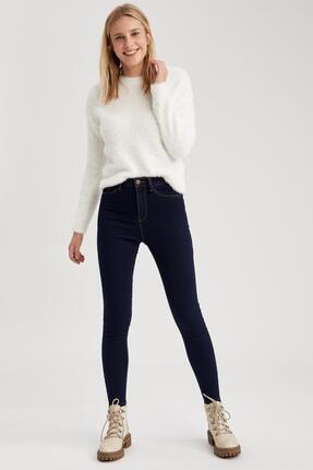 Defacto Kadın Koyu Mavi Super Skinny Fit Jean Pantolon 4