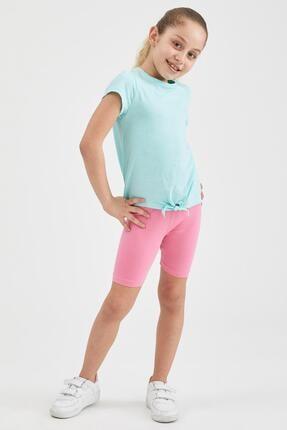 Defacto Kız Çocuk Basic Biker Tayt 0