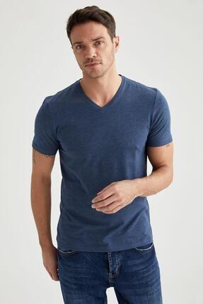 Defacto Slim Fit V Yaka Basic Tişört 0