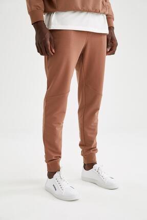Defacto Erkek Kahverengi Slim Fit Jogger Eşofman Altı 1