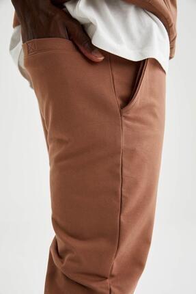 Defacto Erkek Kahverengi Slim Fit Jogger Eşofman Altı 3