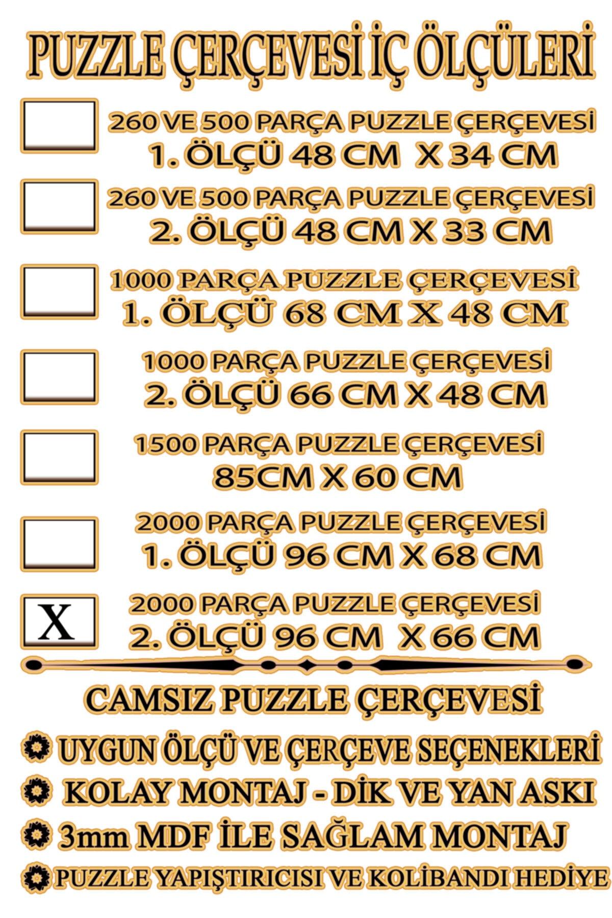 EFOR PUZZLE ÇERÇEVESİ Puzzle Çerçevesi - 2000 Parça ( 96 Cm X 66 Cm Puzzle Çerçevesi )