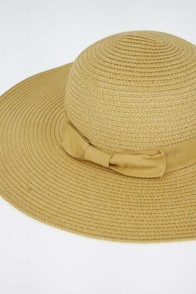 Defacto Şerit Detaylı Hasır Şapka 1