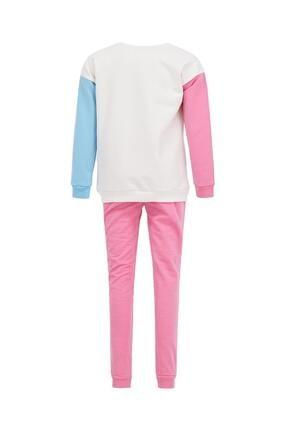 Defacto Kız Çocuk Ekru Unicorn Baskılı Sweatshirt Ve Jogger Eşofman Alt Takımı 4