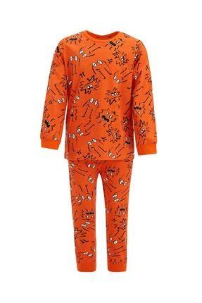 Defacto Erkek Çocuk Baskı Desenli Uzun Kol Pijama Takım 0