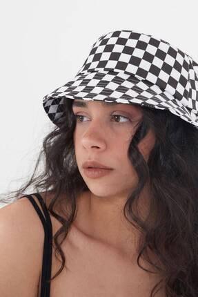 Addax Kadın Damalı Şapka Şpk1045 - E1 Adx-0000023856 0