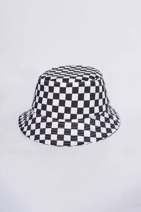 Addax Kadın Damalı Şapka Şpk1045 - E1 Adx-0000023856 2
