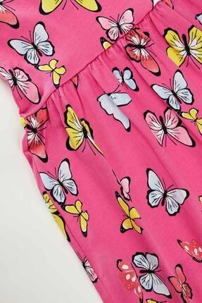 Defacto Kız Çocuk Kelebek Desenli Kolsuz Elbise 3