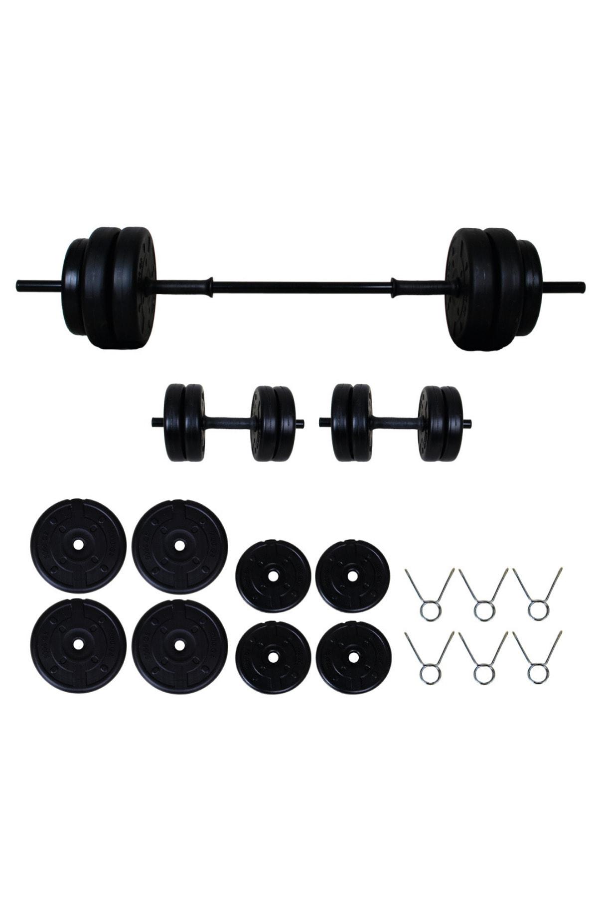 35 kg Halter Seti Dambıl Seti ve Fitness Spor Seti