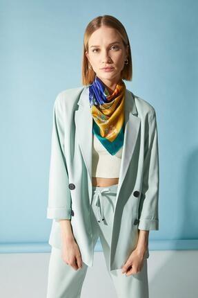 Defacto Kadın Turkuaz Oversize Fit Blazer Ceket 2