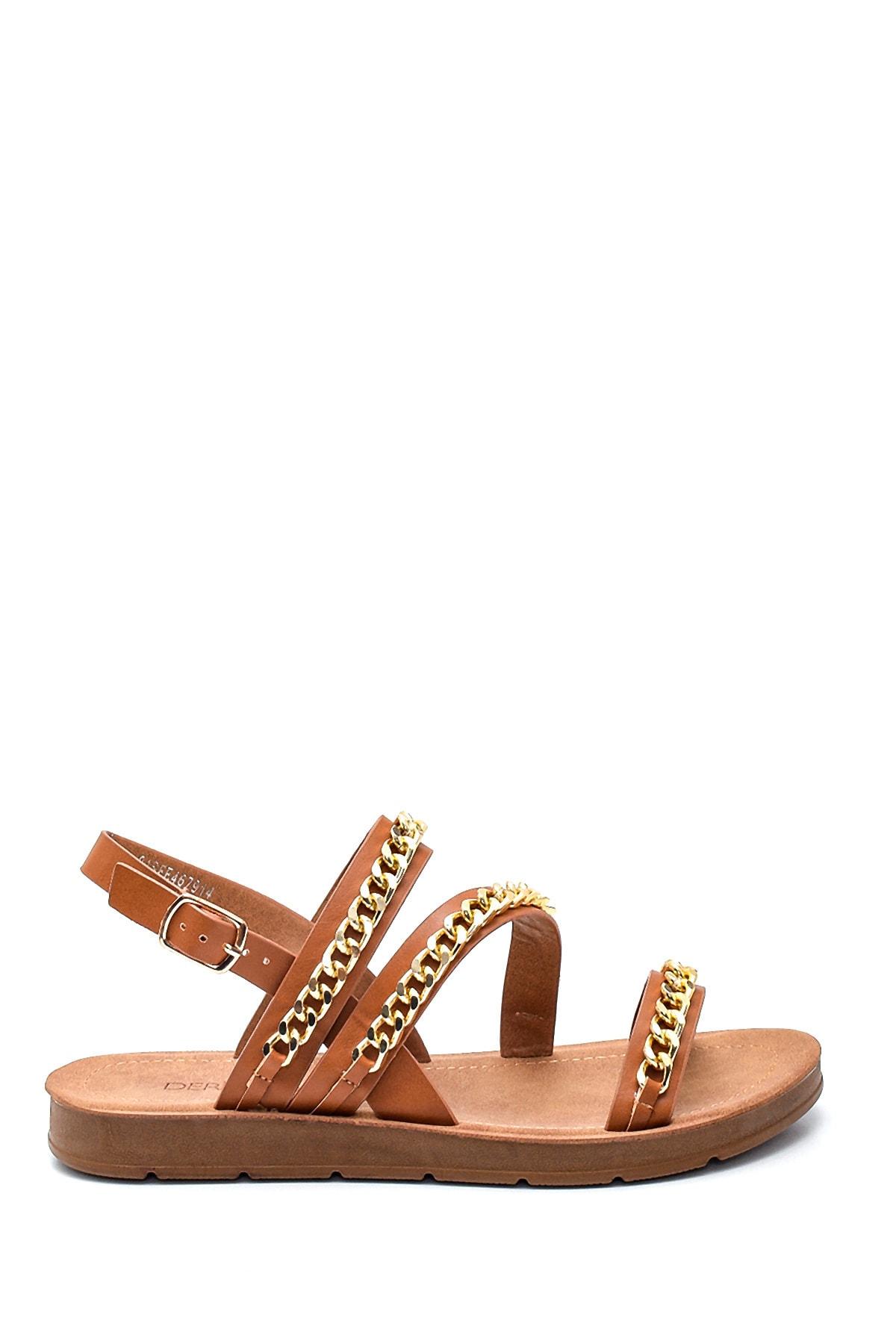 Kadın Zincir Detaylı Sandalet