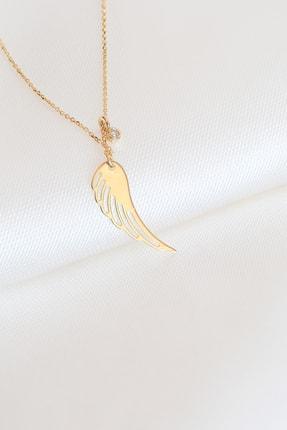 Gelin Pırlanta Kadın Altın Gelin Diamond Pırlantalı Melek Kanadı Kolye 3