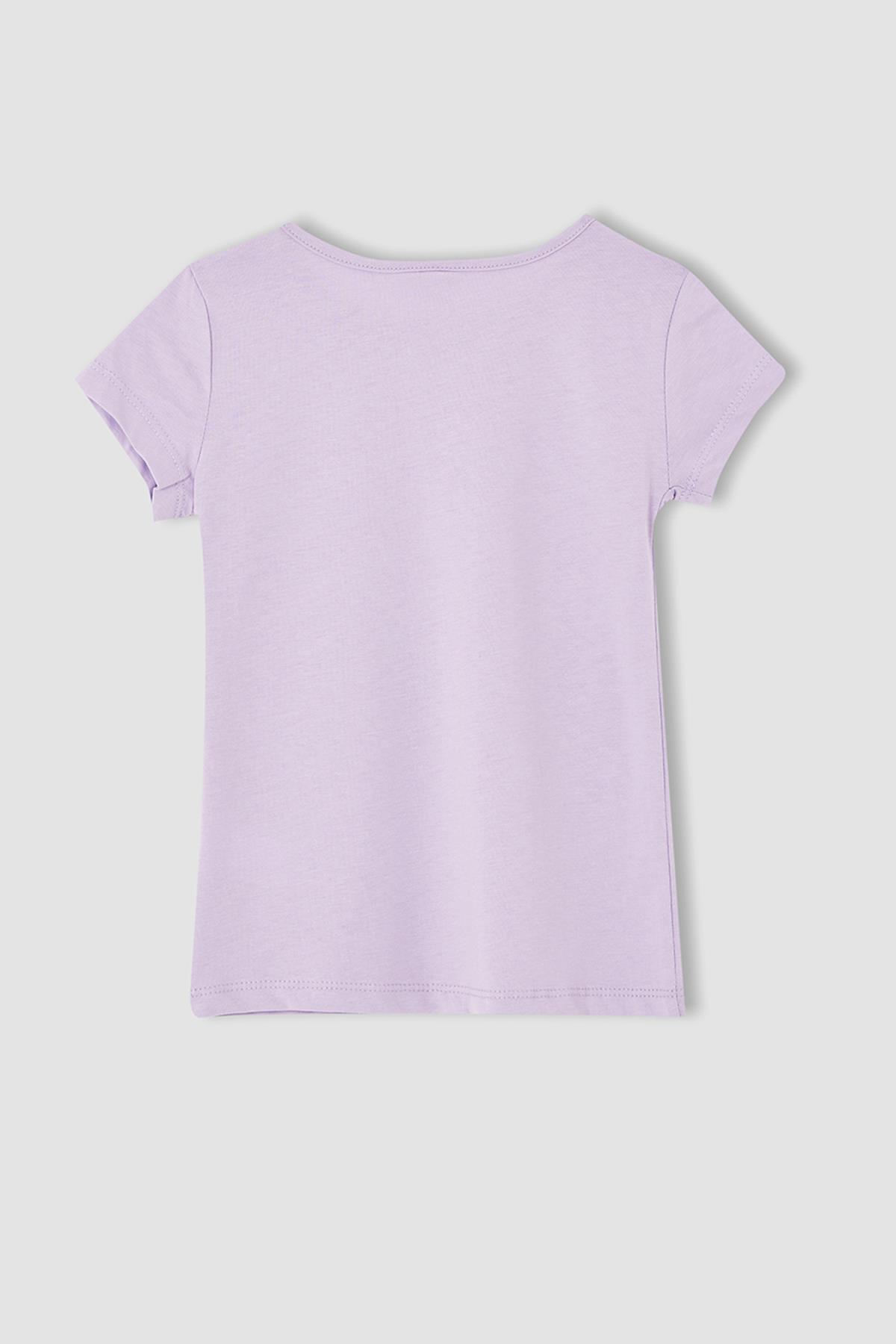 Defacto Kız Çocuk Kısa Kol Basic Tişört 2