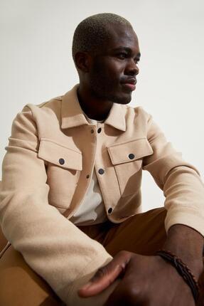 Defacto Slim Fit Polo Yaka Gömlek Ceket 0