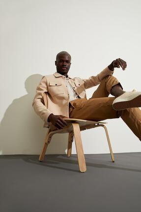 Defacto Slim Fit Polo Yaka Gömlek Ceket 4