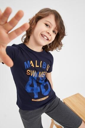 Defacto Erkek Çocuk Yazı Baskılı Kısa Kol Tişört 0