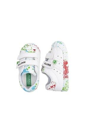 Benetton BN-1017 Beyaz-Yeşil Çocuk Spor Ayakkabı 4