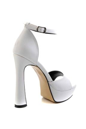 Bambi Beyaz Kadın Abiye Ayakkabı K01925010009 3