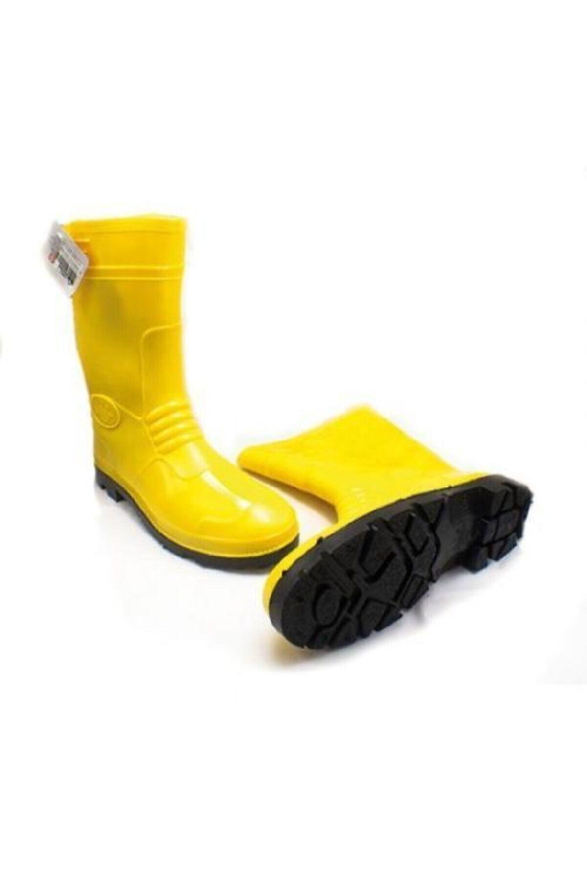 Unisex Sarı Pvc Uzun Lastik Çizme