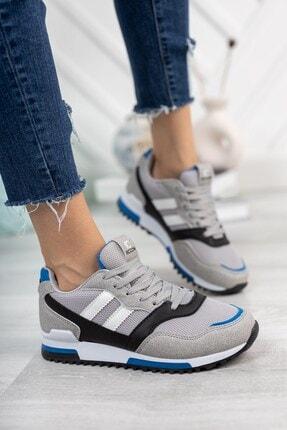Riccon Unisex Gri Saks Sneaker 0012863 3