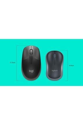 logitech Gri Büyük Boy Kablosuz Mouse Optik 1000 Dpı Buton 910-005905 M190 0