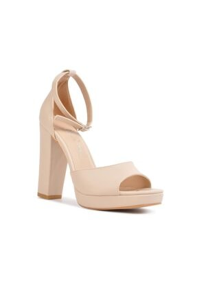 Bej Yüksek Topuklu Ayakkabı MPT96824