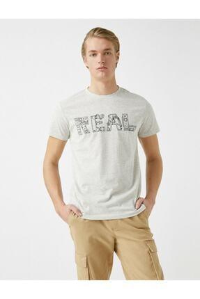 Koton Erkek Pamuklu Bisiklet Yaka Baskili Kisa Kollu  T-Shirt 1