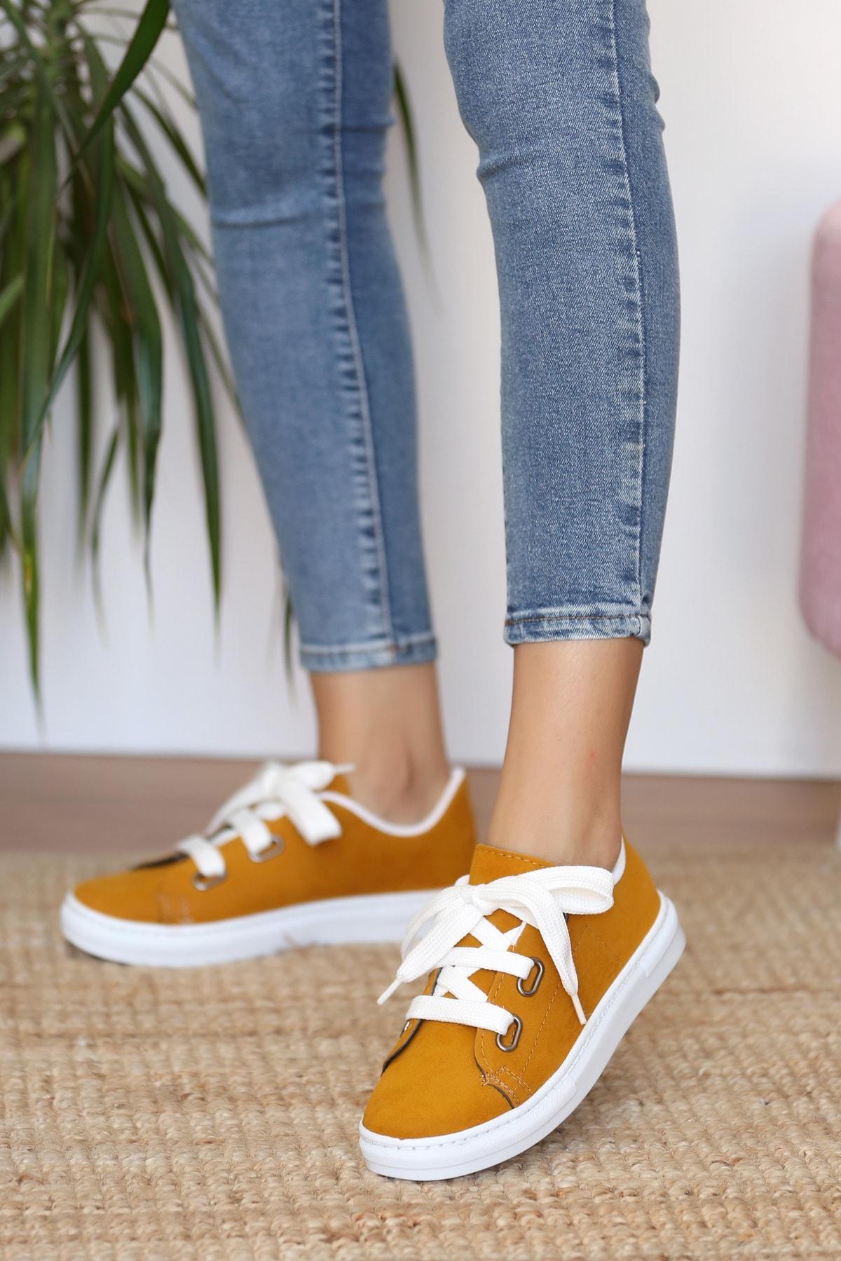 Kadın Hardalnubuk Ayakkabı
