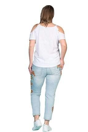 Hanezza Omuz Detaylı Pamuklu T-shirt 0