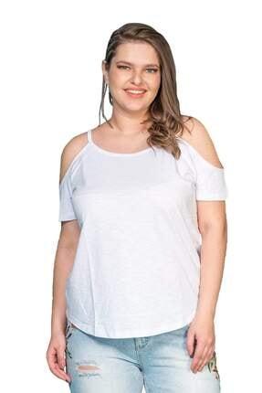 Hanezza Omuz Detaylı Pamuklu T-shirt 3