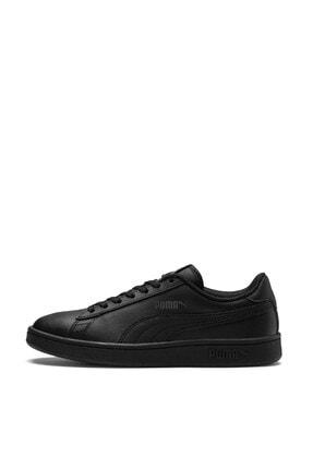 Puma SMASH V2 L JR Siyah Erkek Çocuk Sneaker Ayakkabı 100346457 2